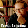 """fringe_exchange: Olivia staring at her computer screen and smiling, text reads """"Fringe Exchange"""" (Fringe Exchange: Olivia)"""