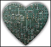 xtina: A heart made out of a motherboard. (love geek, geek heart)