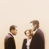 wendelah1: Charlie (Fringe) and Mulder and Scully talking together (altverse x-files-fringe)