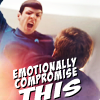 furorscribiendi: Spock (emotionaly compromise this)