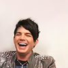 littlemousling: Photo of Adam Lambert laughing (laugh)