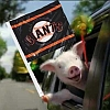 kshandra: Maxwell the Pig from a GEICO ad campaign, photoshopped to be holding a SF Giants flag (Wheeee!)
