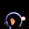 sohotrightnow: The Ninth Doctor, with the London Eye framing him in the background. ([dw] gay and innocent and heartless)
