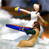 annalee: Nathan's and my wedding cake topper, which depicted us defending our cake with NERF guns. (Default)
