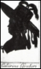 shes_a_geek: Silhoutte of a woman wearing an elaborate hat decorated with ribbons and feathers. (cavalieri)