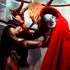mjolnir_retriever: Thor getting stabbed by Loki. (close as brothers)