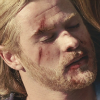 mjolnir_retriever: Thor, unconscious or dead, with his eyes closed and some bloody scrapes on his face. (this is a good death)