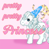 "trouble: A My Little Pony wearing a 'princess' hat - ""Pretty Pretty Princess"" (pretty pretty princess pony)"