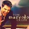 "analoguechild: Tom Cruise laughing very hard with text that says: Tom ""Marvolo"" Cruise. (CreepyEvil laughter/Tom ""Marvolo"" Cruise)"