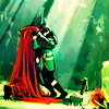 terabient: Thor and young Loki hug (Marvel: Thor/kid!Loki hug)