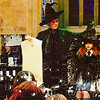 cranky_x_crocus: Character Minerva McGonagall putting the Sorting Hat onto Character Hermione Granger's head. (HP || McMin || Sorting.)
