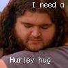 kass: Hurley hugging Charlie. (Hurley)