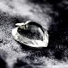 alexseanchai: A clear white crystal heart-shaped pendant, no chain (crystal heart pendant)
