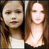 deeperwonderment: Mackenzie Foy and Christie Burke as Renesmee (Renesmee Now and Then)