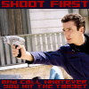 """wychwood: Malcolm labelled """"shoot first (and call whatever you hit the target)"""" (Ent - shoot first)"""