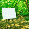 vividoceantides: A blank canvas on an easel. (meme, blank canvas)