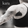 "amalnahurriyeh: BSG: Arm and shoulder of Kara Thrace from behind, showing her tattoo.  Text reads ""kara."" (kara tattoo)"