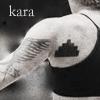 "amalnahurriyeh: BSG: Arm and shoulder of Kara Thrace from behind, showing her tattoo.  Text reads ""kara."" (kara tattoo)"