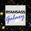 the_refugees: Black background with navy blue stars: Text: Ryan's Ass Galaxy (Default)