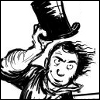 melannen: It's Isambard Kingdom Brunel! Whizzing by, lifting his top hat in greeting. (brunel)