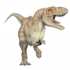 halialkers: Dinosaur, bipedal being with three toes, long tail, big head (Garlukhazuik)