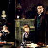 starlady: Mary, Holmes and Watson at home in Baker Street (not impressed OT3)