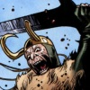 loki_of_sassgaard: Loki holding a claymore whilst screaming (Loki Smash)