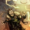 loki_of_sassgaard: Loki holding Mjölnir aloft and summoning lightning (Loki Hammer)