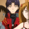 lluvia: Shinji&Misato&Asuka ‡ Rebuild Of Evangelion ‡ Gainax (Your bullshit fails.)