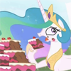 nethilia: (celestia eat cake)
