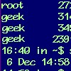 pseydtonne: This is an old command prompt screen shot from my days at IBM Rational. My username is geek (actually I 'shopped that). (CLI)