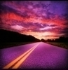 theelusiven: A deep purple sunset over a highway (pic#508830)