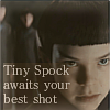 ineptshieldmaid: Tiny Spock awaits your best shot (ST - child!spock - best shot)