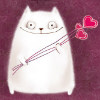 anbarna: (влюбленный белый кот)