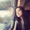 madri: The queen of cute gazing out a train window. (Passing me by)