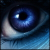 mckenna: a blue eye with some blue lines (mystic blue)