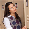 twoapennything: Rachel Berry from Glee! standing at her locker with a far away look (Rachel Berry)