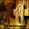 "talibusorabat: A fire, rope, and the text ""In Memoria"" (Story: In Memoria)"