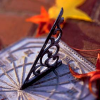 spatz: sundial with fall leaves (sundial)