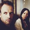 venusinthenight: sherlock and joan listening to a suspect (elementary - sherlock/joan judging you)