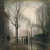 stellawind: The Plaza After Rain - Painted by Paul Cornoyer c.1910 (ygo)