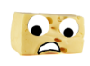 missbopeep: A picture of a hunk of cheese with googly eyes (cheese, googly eyes)