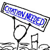 sofiaviolet: xkcd: stick figure holding up a sign reading Citation Needed (citation needed)
