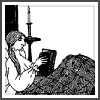 telesilla: a woman reading in bed--by edward gorey (gorey reader)