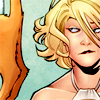 orm: Power Girl looking sideways at the ass of her cat with a weary grimace (DISPLEASURE: cat ass)