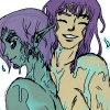 tsutsuji: (XelZel wet & happy)