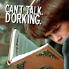 "arethinn: Bastian from the Neverending Story with book, text ""can't talk, dorking"" (geeky (bastian dorking))"