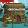 glitchwidth: Building-sized stump with welcoming lanterns and sign 'Glitchwidth' (Default)