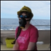 beckyc: Me, wearing a gas mask (Default)