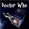 """lefaym: The Doctor holding Amy by the foot as she floats outside the TARDIS. Above them, the caption """"Doctor Who"""". (Doctor Who)"""